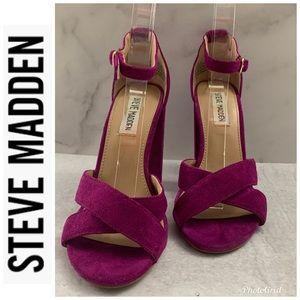 Steve Madden Shena Purple Pink Chunky Heel Shoes 6